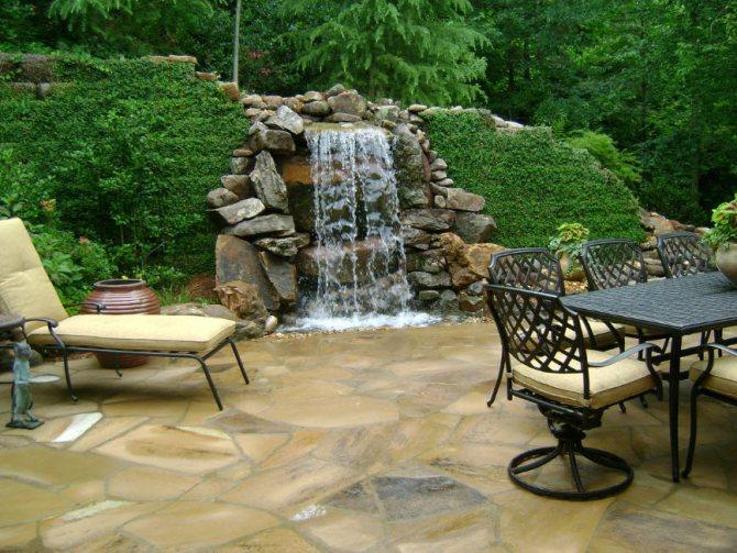 2 192 Водопад по стеклу: настенный, домашний и уличный варианты