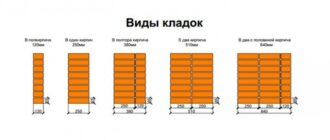3 tolshchina razlichnykh vidov kirpichnoy kladki2 Делим помещения перегородками из кирпича