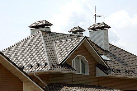 440px krysha oblicovannaya metallocherepicej Металлочерепица: размеры листа и расчёт для крыши