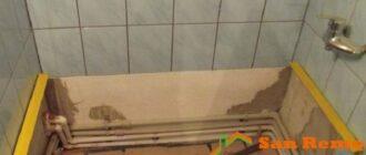 485 ekran mesto dlya vanny Ванная акриловая: установка своими руками, пошаговая инструкция