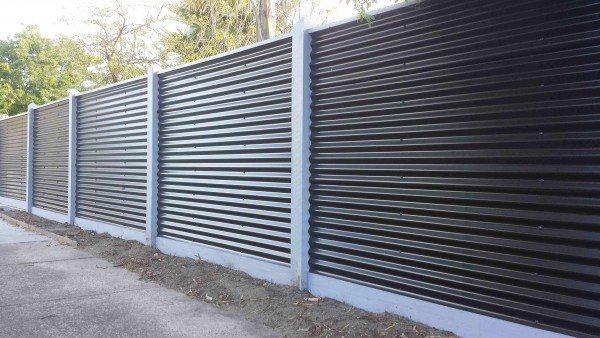 635 Забор из профлиста своими руками без сварки
