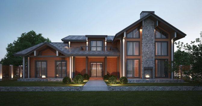 6 image033 Дом с мансардой в разрезе. Разновидности конструкций мансардных крыш. Использование аттиковых стен