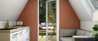 a obraznyj dom vnutri Треугольный дом с дворами и зелёной крышей среди оливковой рощи