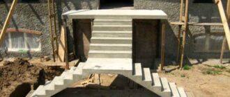 betonnaja vhodnaja lestnica Как залить лестницу из бетона в подвал