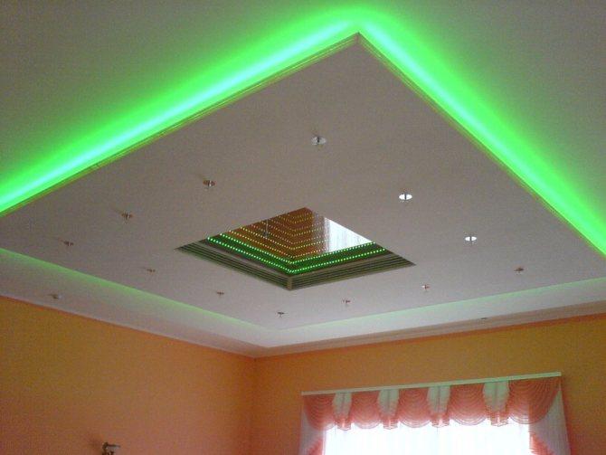 chto takoe podvesnoj potolok Как сделать навесной потолок из гипсокартона с подсветкой: техника и дизайнерские приемы