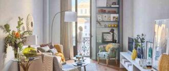 dizajn hrushchevki5 Очень дешевый ремонт однокомнатной хрущевки 30 кв.м с мебелью из поддонов