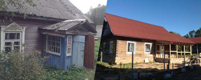 dom do i posle rekonstrukcii Преображение старого бревенчатого дома, пустующего более 40 лет: в его стены будто вдохнули новую жизнь