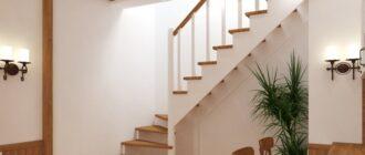 f98c3e7f2d158b23c8a639f245df3c5c Строительство угловой, модульной, поворотной лестницы на 2 этаж из дерева – чертежи, схема