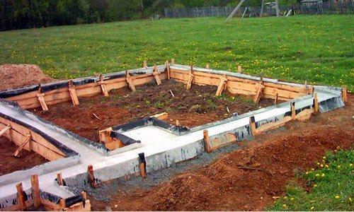 fundament2 Какой должен быть фундамент для двухэтажного дома?