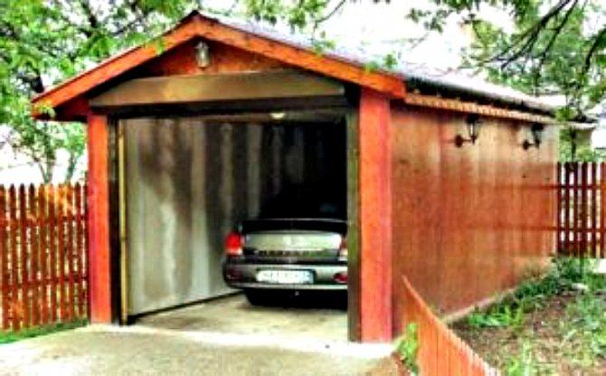 garazh na dache Проект гаража на 1 машину: купить или разработать?