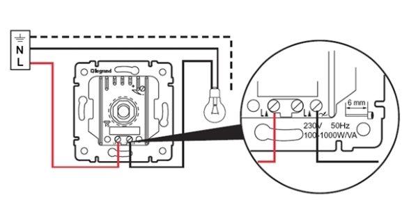 Как подключить диммер 03