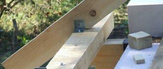 kak zakrepit stropila na balkax perekrytiya1 Балки в деревянном доме: классификация, расчет и особенности проведения ремонтных работ