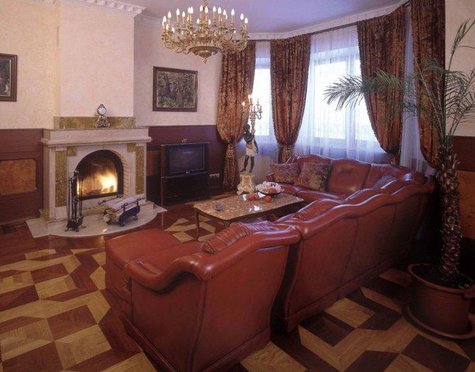 krasivyie gostinyie s kaminom 4 Дизайн гостиной с камином: примеры с фото, необычные идеи в интерьере