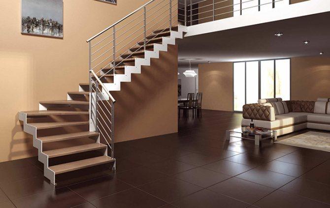 lestnica zabezhnaya Что нужно знать о размерах лестницы для частного дома