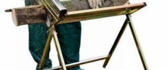 metallich11 Как сделать складные козлы для пилки дров. Козла для дров своими руками: как это делается. Делаем козлы для дров своими руками