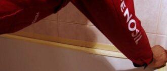 obkleivaem shvyi kafelya malyarnoy lentoy ili plenkoy Как легко отмыть керамическую плитку после ремонта