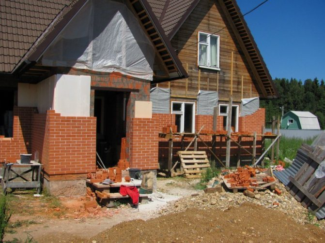 oblitsovka derevyannogo doma kirpichom Технология обкладки деревянного дома кирпичом