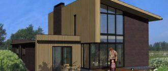 odnoskatnaya krysha 1 600x414 Дом с односкатной крышей. Как построить каркасный дом с односкатной крышей: варианты проектов