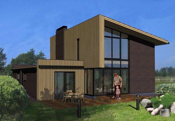 odnoskatnaya krysha 1 Дом с односкатной крышей. Как построить каркасный дом с односкатной крышей: варианты проектов