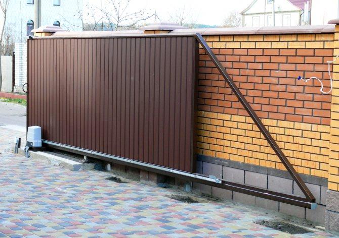 otkatnye vorota2 Проведение монтажа откатных ворот своими руками