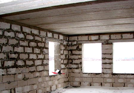 perekrytiya dom iz gazobetona Устройство перекрытия в доме из газобетона