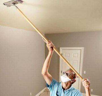 pobelka potolka vodoemulsionnoj14 Побелка потолка водоэмульсионной краской сделать самому своими руками: пошаговая инструкция