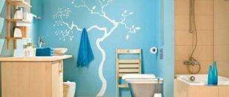 pokrashennaya kraskoj vannaya komnata Как покрасить самостоятельно ванную комнату