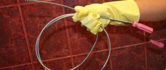 prochistka zasora v vannoj Завершающий этап монтажа внешней канализации