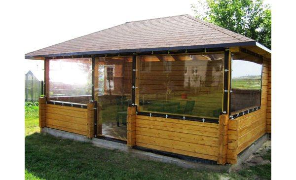 prozrachnye steny Как и чем закрыть беседку с боков от дождя и ветра: окна, стены, крышу, видео-инструкция по монтажу своими руками, фото
