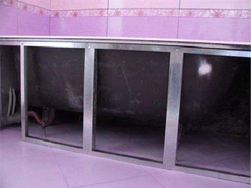 ready frame7 Как изготовить экраны под ванну своими руками? Изготовление и установка экрана под ванну