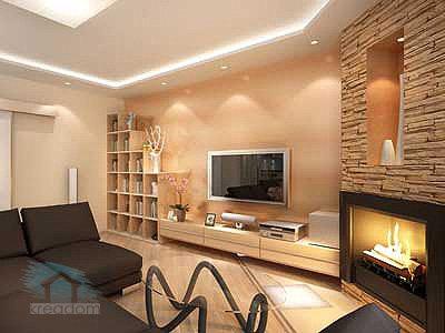 remont gostinoj v pesochnyh tonah Интерьер гостиной в современном стиле (85 фото)