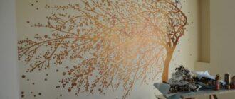 rospis sten 1 Узор на стену своими руками. Фото-подборка