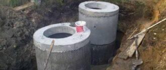shema ustrojstva septika iz betonnyh kolec Как рассчитать объем септика из бетонных колец