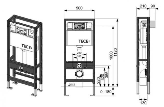 shema37 Установка подвесного унитаза c инсталяцией