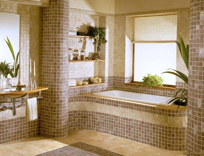 sochetanie raznoj plitki Какой пол выбрать для ванной: обзор материалов