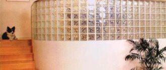 steklobloki v interere Стены из стеклоблоков своими руками. Мастер класс, дизайн, фото.