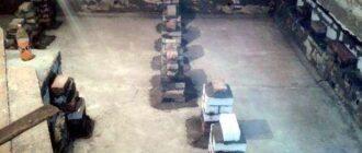 stolbiki pod lagi 3 1 Правильная установка печи в бане на деревянный пол. Как класть кирпич: действия с фото, как самостоятельно ложу кирпич Кладем кирпич на деревянный пол