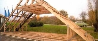 stropila2 Как самому перекрыть крышу? Ремонт крыши своими руками.