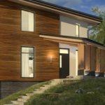 tonkosti processa otdelki fasada derevom 1 Комбинирование сайдинга и фасадных панелей в отделке домов