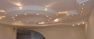 ustanovka potolka iz gipsokartona v dome svoimi rukami Двухуровневые потолки для гостиной из гипсокартона, фото