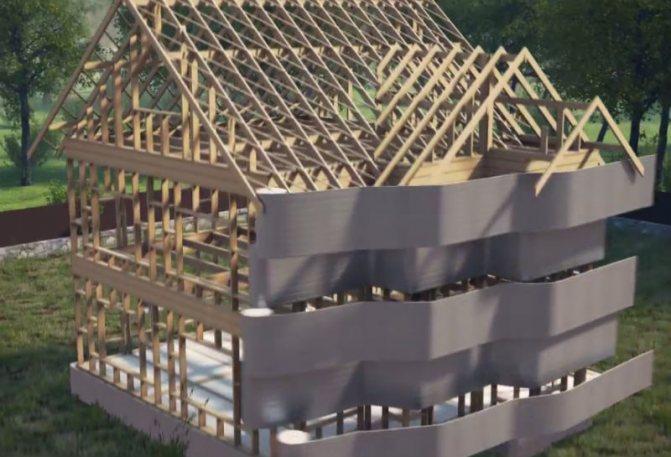 uteplenie fasada karkasnogo doma Навесные вентилируемые фасадные системы