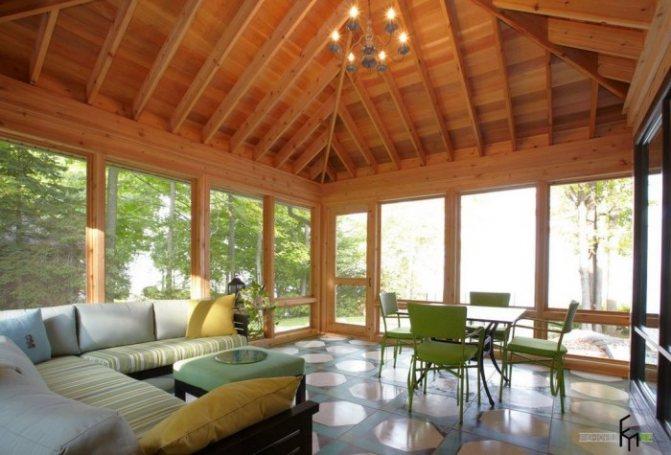 uteplennaya veranda 1 Как утеплить дом снаружи и изнутри. Вентилируемый навесной фасад. Колодезная кладка. Мокрый фасад. Теплая штукатурка